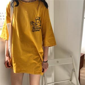 【トップス】ラウンドネックシンプルプリントTシャツ17461244