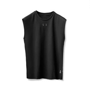 【ASRV】フレンチテリーオーバーサイズカットオフシャツ - Black