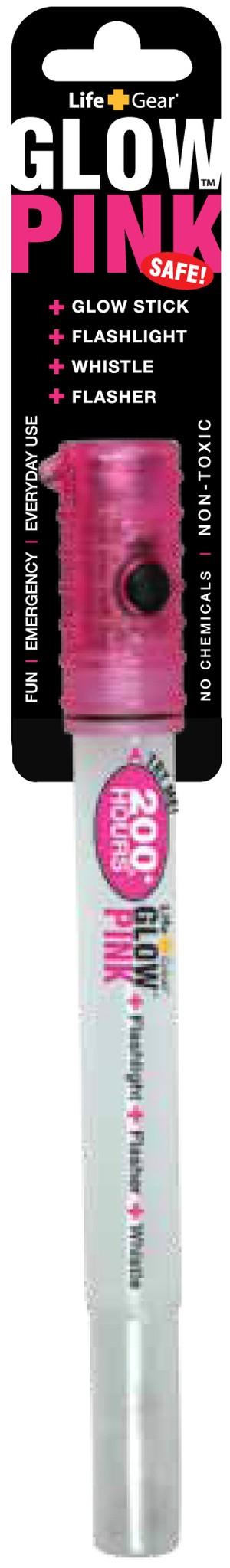 LEDグロースティックライト ピンク LifeGear ライフギア