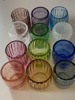 誕生石カラーのガラス花器 1〜12月
