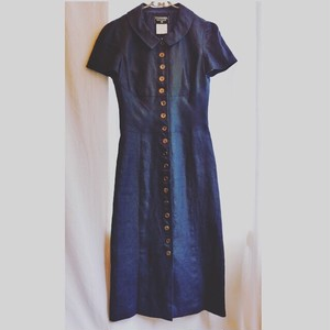 CHANEL Navy Linen Dress