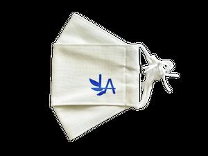 【ハンドメイド】マスク(LAロゴ・ホワイト)