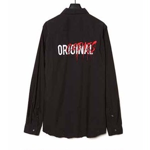 CHRISTIAN DADA - ORIGINAL COPIES Embroidered Shirt (BLACK) -