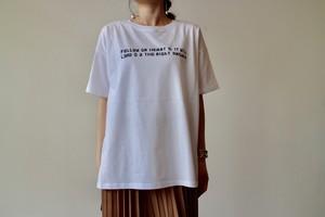刺繍ロゴ tシャツ