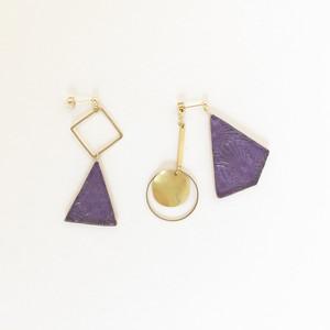 ガラスと真鍮のピアス / イヤリング