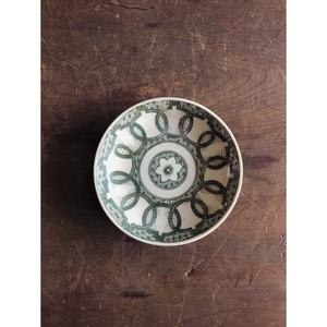 明治 ー 大正時代 印判小皿 印判手 麻の葉模様  小皿  骨董 古道具 うつわ 和食器