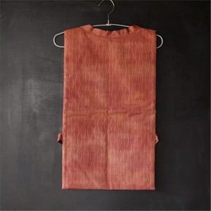 (手針り)絹 橙色