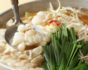 もつ鍋(和牛とろモツ300g+奈良醤油出汁1L)