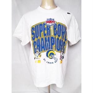 NFL スーパーボウル Super Bowl XXXIV ST. LOUIS RAMS セントルイス ラムズ 2000 Tシャツ 半袖Tシャツ L XXL 2XL 1466