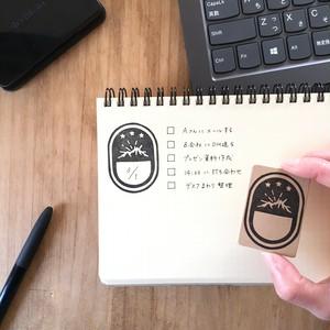 【セール】山のマルチフレームはんこ/スタンプ/スケジュール/手帳/ラベル