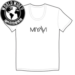 【WorldWide】MIYAVI Logo T-shirts(embroidery) white