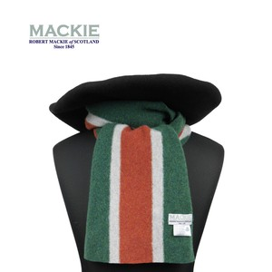 ROBERT MACKIE 英国製 スクールマフラー Or Glory 別注 〈Green〉