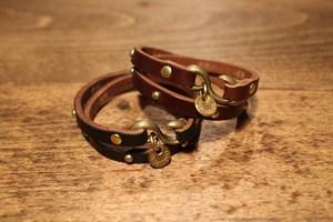 Double Bracelet ~UK BRIDLE SADDLE~