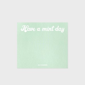 [OLD CHANNEL] SQUARE MEMO PAD (Mint day)