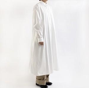 【HARVESTY】 SHIRTS ROBE BROAD CLOTH (WHITE) シャツ ワンピース  日本製 ハーベスティ