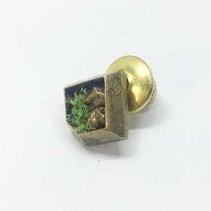 石壁ゴカクブローチ/brass