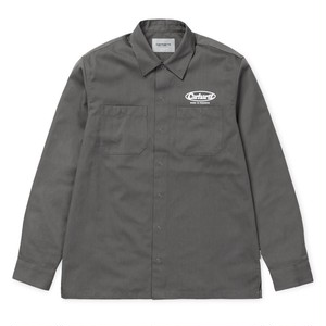 carhartt / L/S BALTIMORE SHIRT - Air Force Grey / White Mサイズ