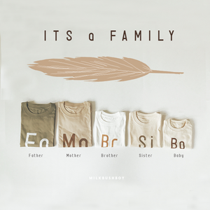kids t-shirt 【IT'S a FAMILY】