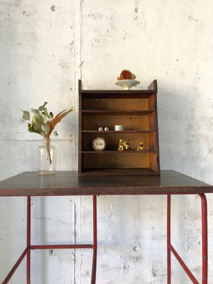木味の収納棚5段[古家具]