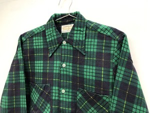 【golden Line】Check Print Flannel shirts