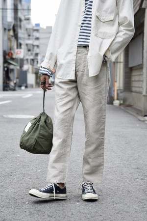 【ORDINARY FITS】LINEN 5POCKET ANKLE/OF-P058