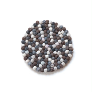 Felt Ball Pot Mat / Natural 2
