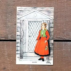 民族衣装カード「RÄTTVIK(NATIONAL BILDER - 10)」《201219-05》