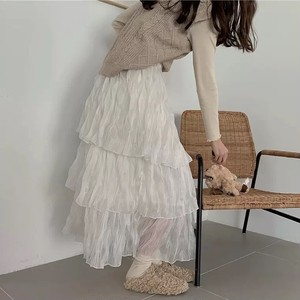tulle bigfrill skirt 2color