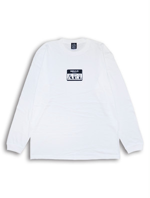 LOGO PATCH L/S TEE white