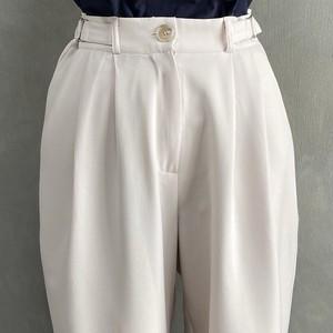 buckle design slacks(3/17na-10) ※Whiteラスト3点