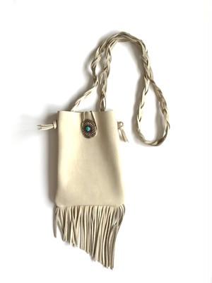 fringe shoulder bag -ivory-