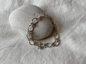 <vintage silver925>oval link bracelet