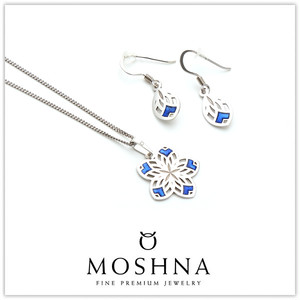 【MOSHNA:モシュナ】Ice Lace SET ネックレス ピアス ブルーコレクション