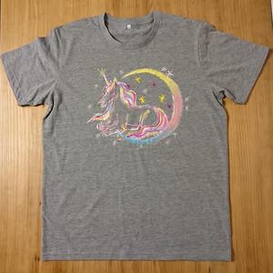手描きTシャツ(Gray)