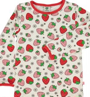 smafolk イチゴ柄長袖シャツ 91-0021