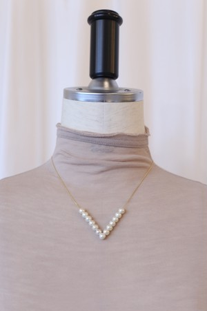 "aokiyuri ""cotton pearl necklace"""