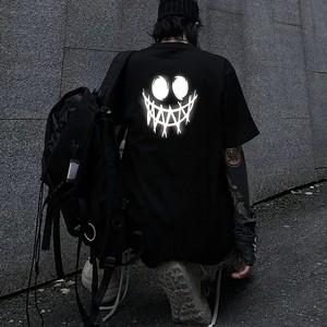 【トップス】悪魔半袖反射ストリートプリントTシャツ29210098