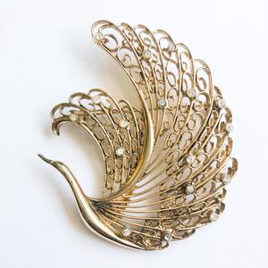 swan brooch[b-271] ヴィンテージブローチ