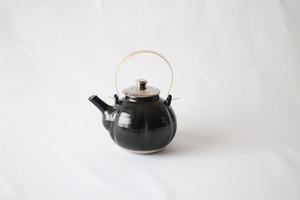江戸元禄期 大堀相馬焼 瓜型土瓶 (黒)
