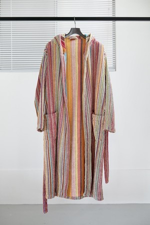 <SOLD OUT>Missoni - Famous Pattern Pile Gown Coat