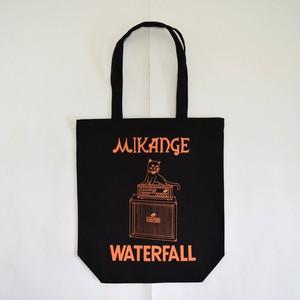 猫ツアートートバッグ「猫アンプ」 レコードバッグ ブラック WATERFALLオリジナル 生産数量限定  F ※即納対応可能