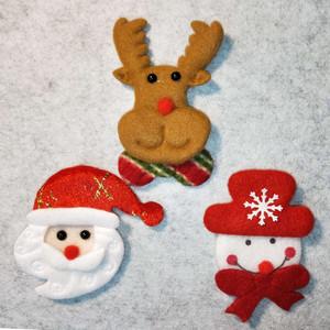 ディスプレイにそっと飾りたい、ほっこりするクリスマスのオーナメント3点セット サンタクロース トナカイ スノーマン 癒し ほっこり かわいい 暖かい ハンドメイド
