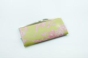 【秀和 x pink india】北欧デザイン 牛革がま口復刻長財布 | herbal garden