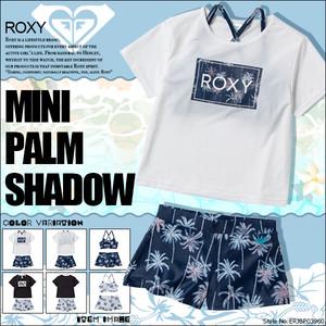 TSW201102 ロキシー ビキニ セット ラッシュTシャツ付き 3点セット パームツリー柄 おしゃれ ロゴ キッズ 新作 リゾート 旅行 プレゼント ギフト ROX