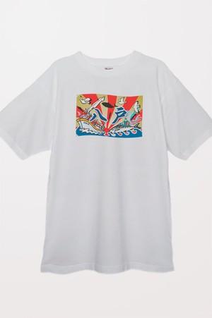大漁旗 Tシャツ(ホワイト)