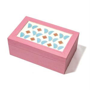 小箱 バタフライ 木製 モザイクタイル
