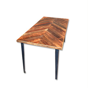 "受注生産品 Reclaimed Table ""Plain"" 750 x 1500 w/ chevron top"