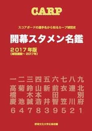 CARP 開幕スタメン名鑑 2017年版