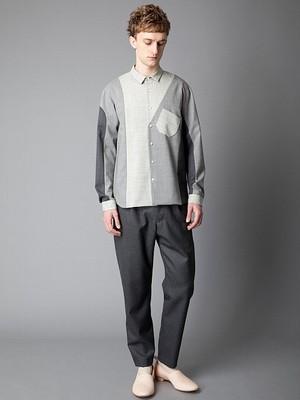 ETHOSENS : パネルパターンシャツ