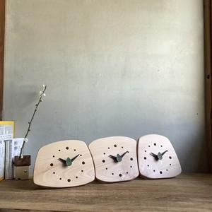 ブナ 森の置き時計 両親贈呈品にも 有機3連時計